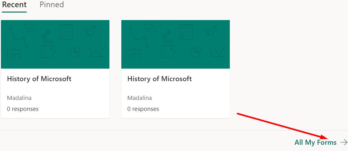 Microsoft hace todas mis formas