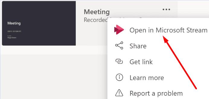 Abrir en Microsoft Stream