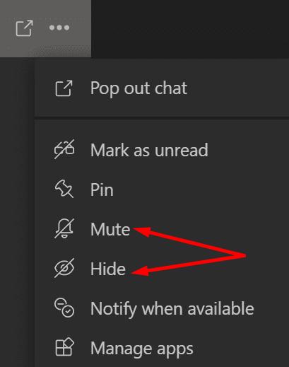 Silenciar y ocultar equipos Microsoft-Microsoft