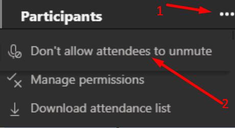 No permitir que los asistentes activen el sonido de los equipos