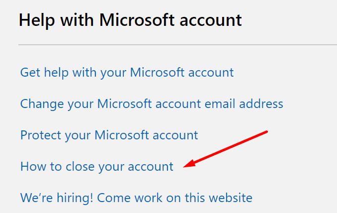 Cómo cerrar una cuenta de Microsoft