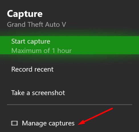 Xbox gestiona las capturas