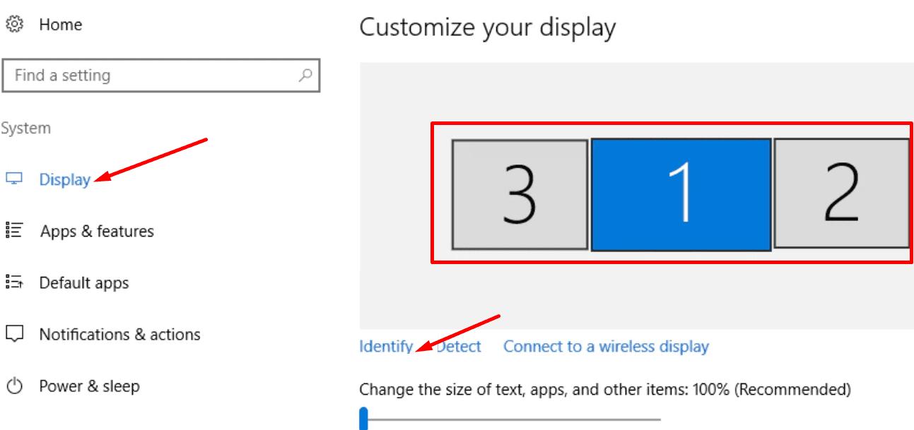 Cambiar la ventana de orden del monitor 10
