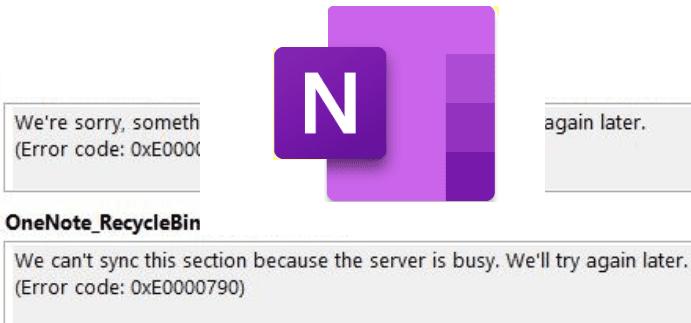 OneNote no se puede sincronizar porque el servidor está ocupado