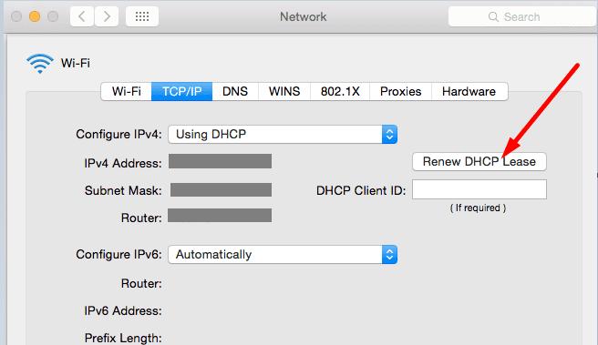 Renovar DHCP Lease Mac