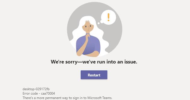 Cómo reparar el error caa70004 de Microsoft Teams