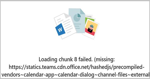 Se corrigió el error de Microsoft Teams al cargar el fragmento