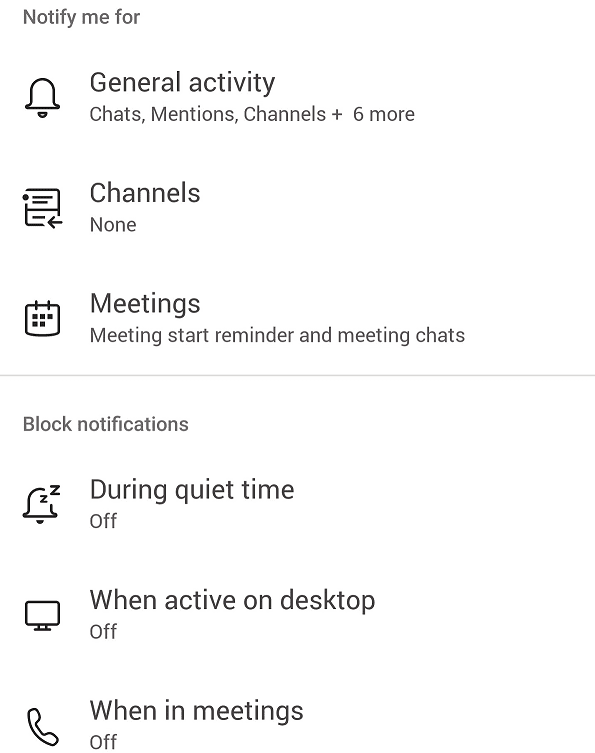 Equipos para la configuración de notificaciones generales