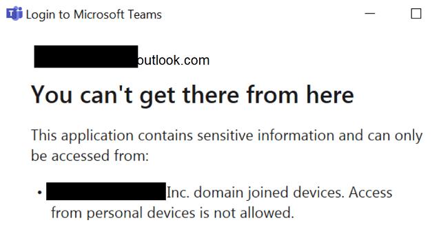 Arregle Microsoft Teams: no puede llegar allí desde aquí