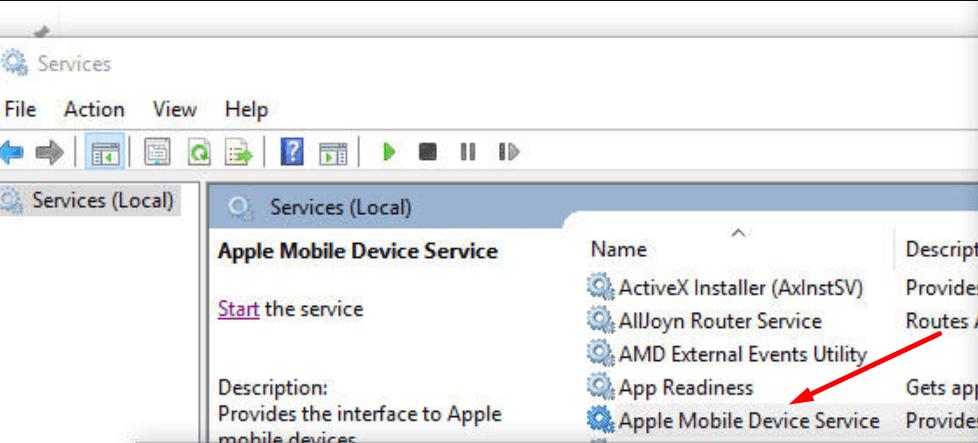 Servicio de dispositivos móviles de Apple