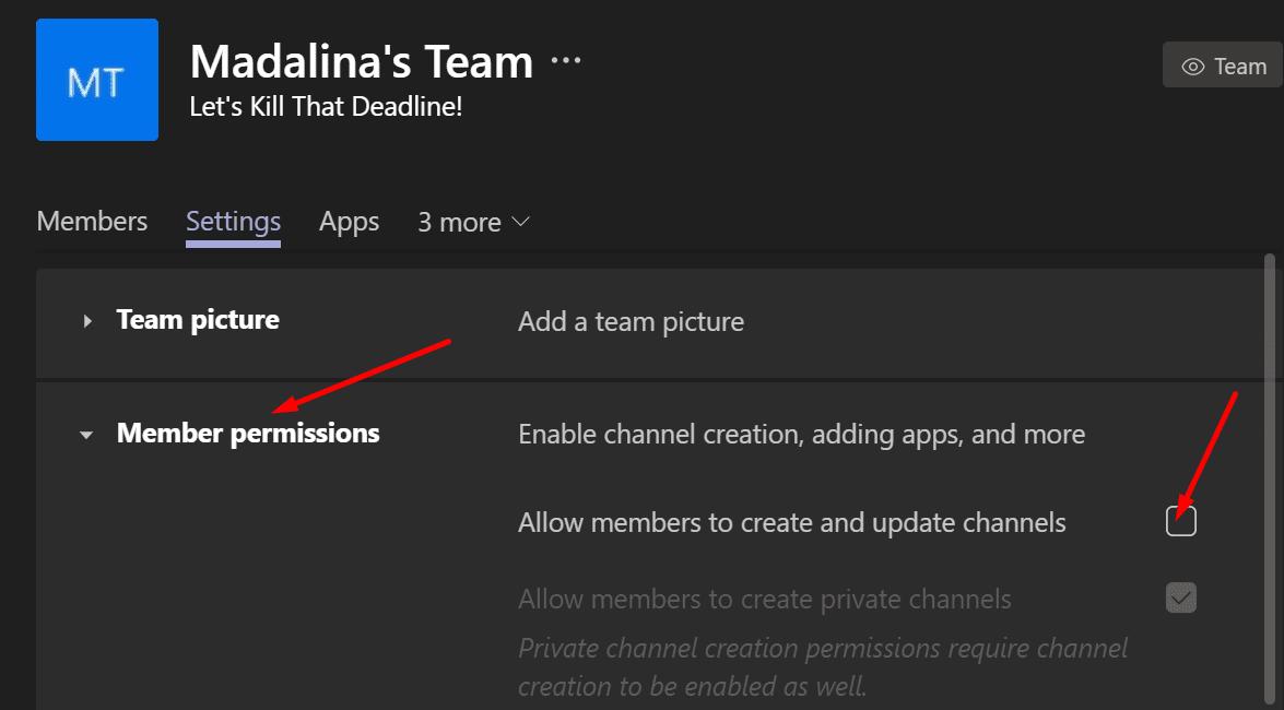 Los usuarios no pueden crear nuevos equipos de canal de Microsoft