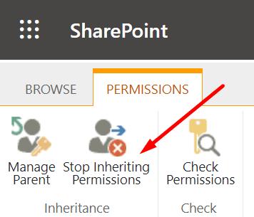 Sharepoint deja de heredar permisos