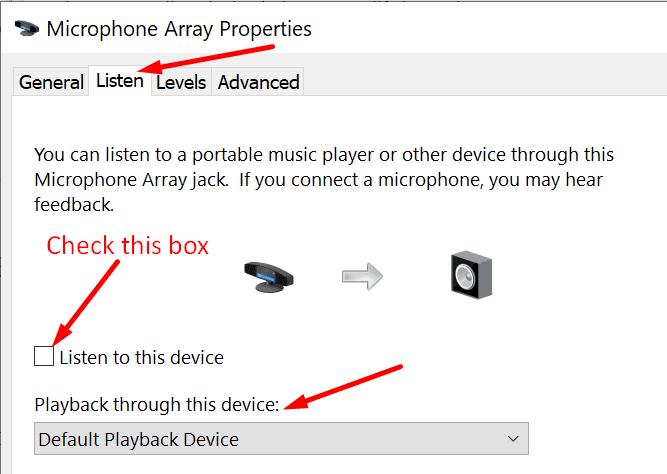 Propiedades de la matriz de micrófonos