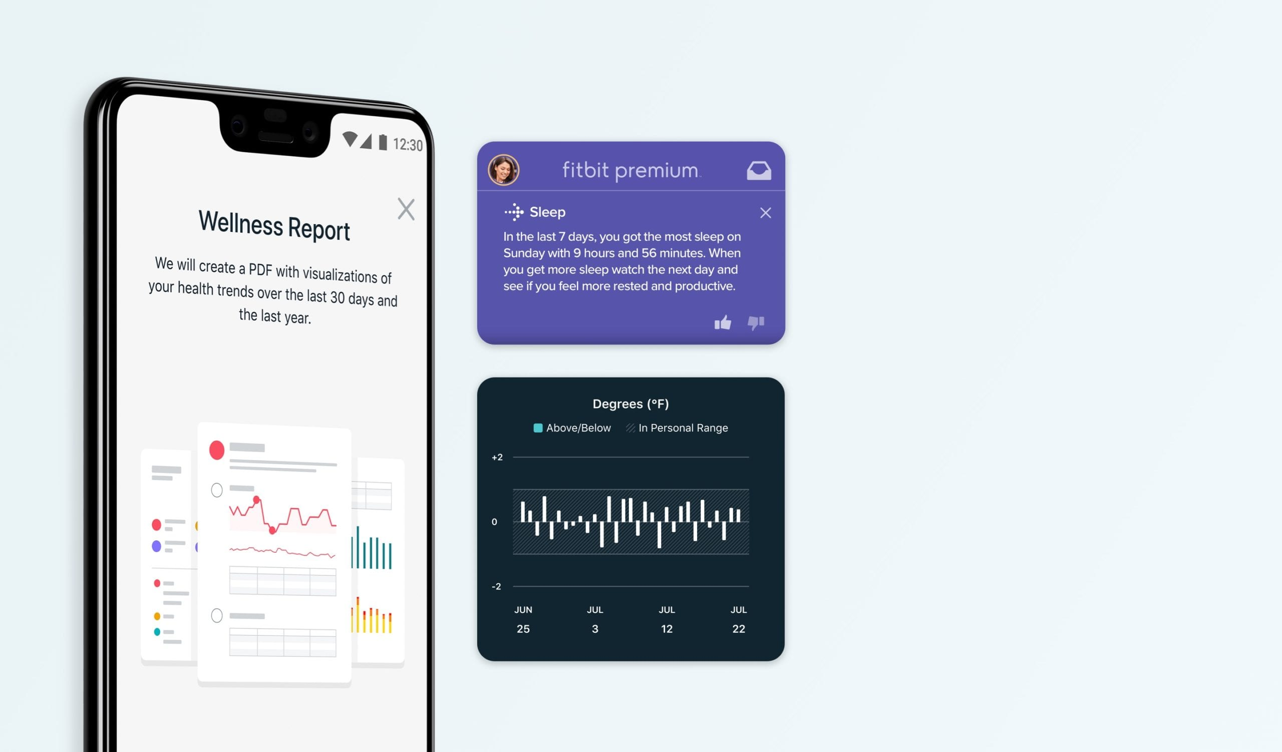 Seguimiento de bienestar de Fitbit Premium