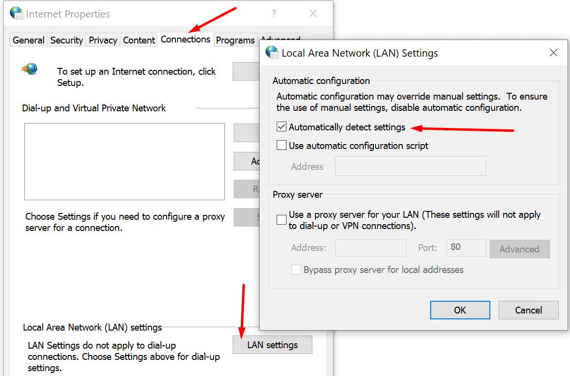 configuración LAN automática