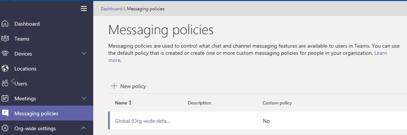 Pautas de mensajería para equipos de Microsoft
