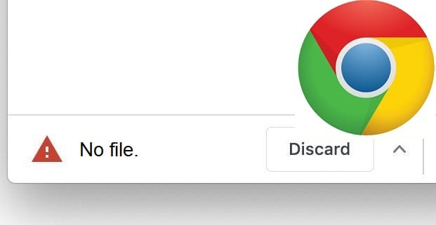 Google Chrome: falta el archivo