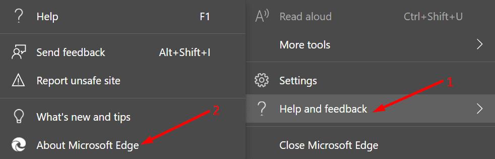 Verifique las actualizaciones de Microsoft Edge