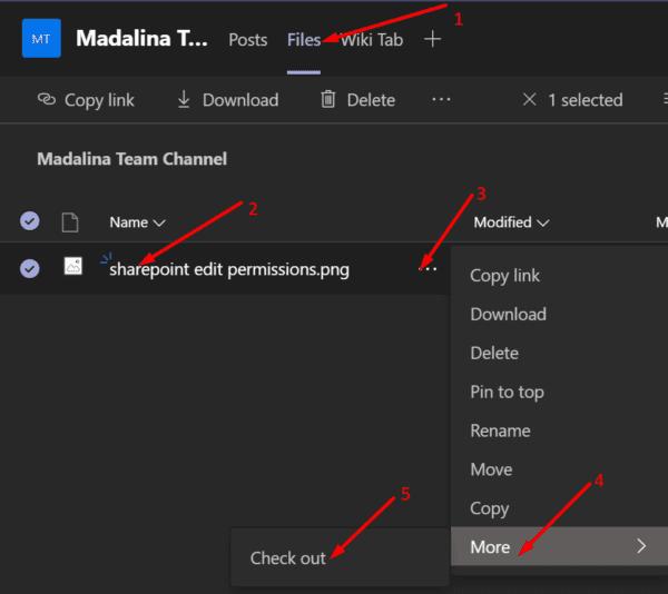 Opción de verificación de Microsoft Teams