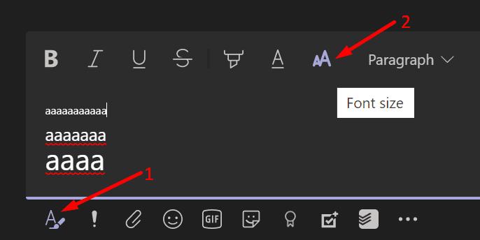 Cambiar el tamaño de fuente de los mensajes Microsoft Teams