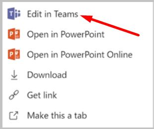Editar archivo en Microsoft Teams