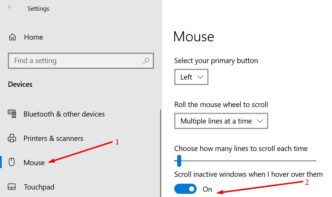 Desplazar las ventanas inactivas cuando coloco el cursor sobre ellas