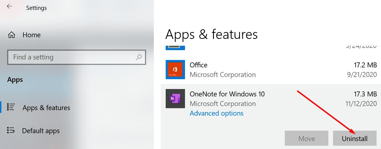 desinstalar una aplicación de Windows Windows 10