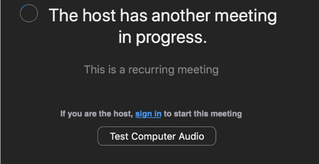 Reparar Zoom: Error de otra reunión en curso