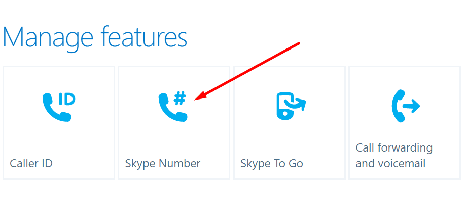Funciones de administración de Skype Número de Skype