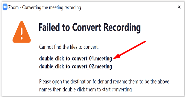 Zoom doble para convertir la grabación de la reunión