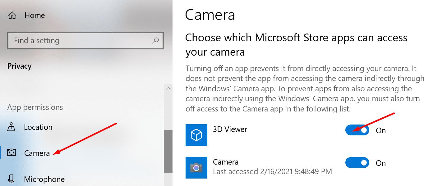 Aplicación de visor 3D Windows 10