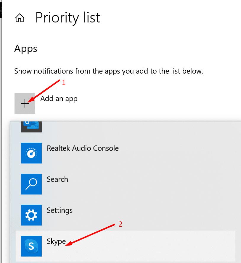 Agregar una lista de prioridades a Skype