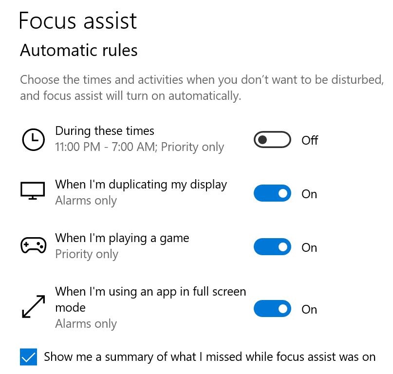 reglas automáticas para la asistencia de enfoque