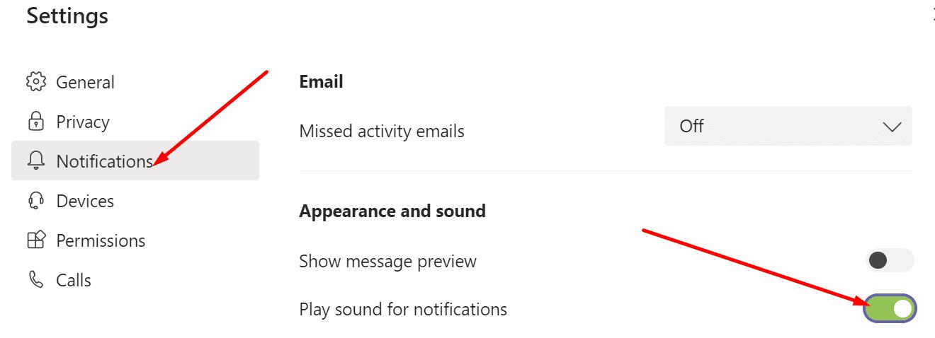 Los equipos reproducen sonido para las notificaciones
