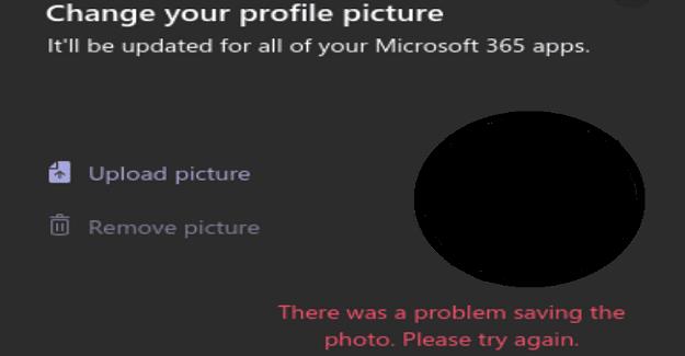 Microsoft Teams: hubo un problema al guardar la foto
