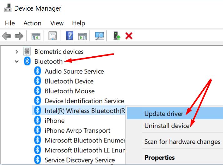 Actualice la PC del controlador de Bluetooth
