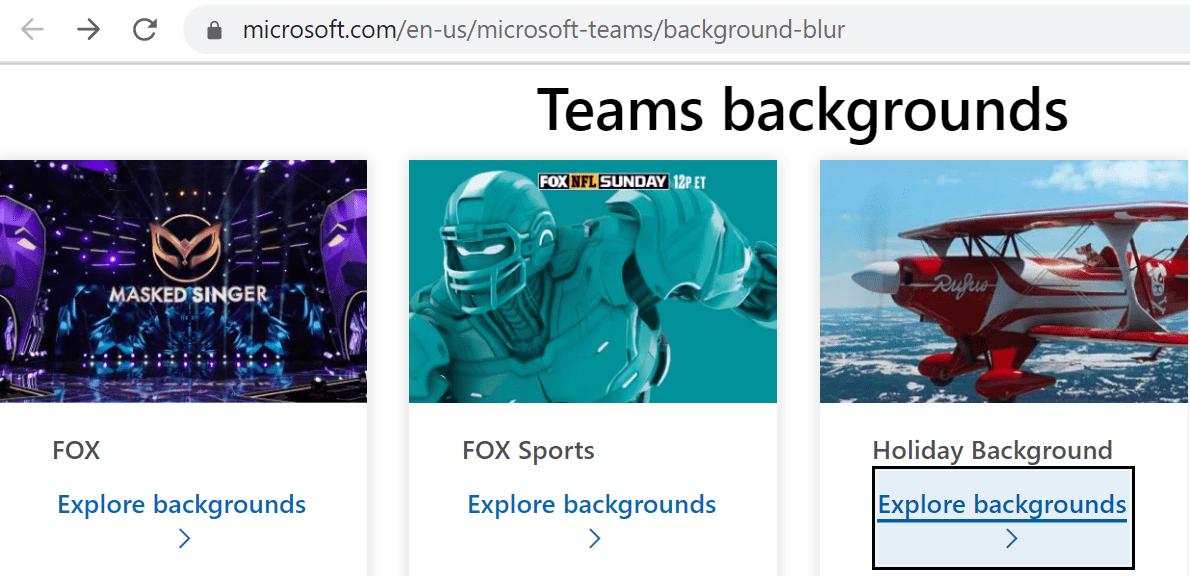 Descargue los fondos de Teams de Microsoft