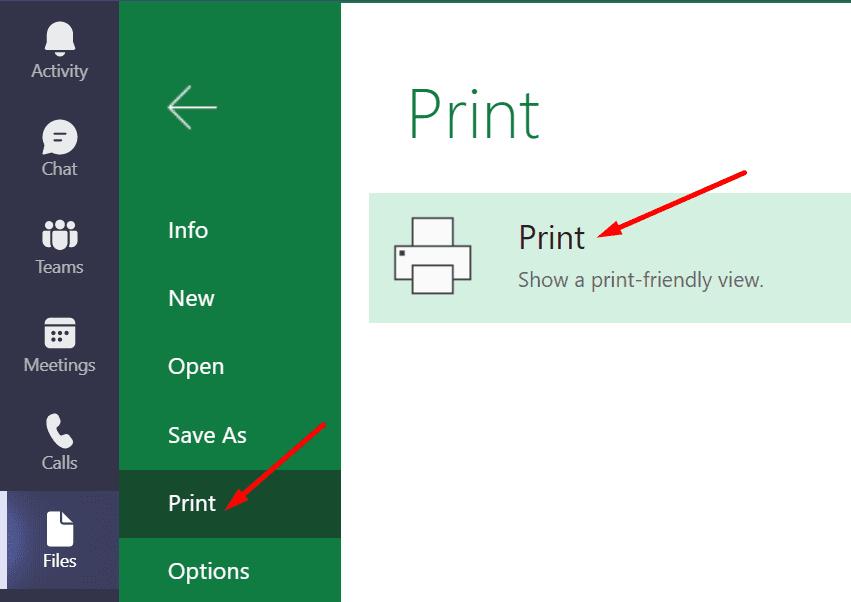 Impresión de equipos de MS