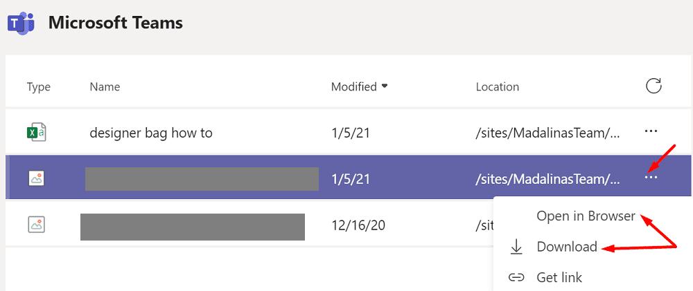 MS Teams se abre en el navegador o descarga el archivo