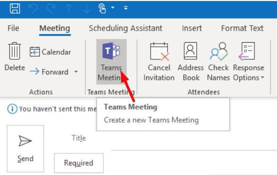 Los equipos se encuentran con Link Outlook