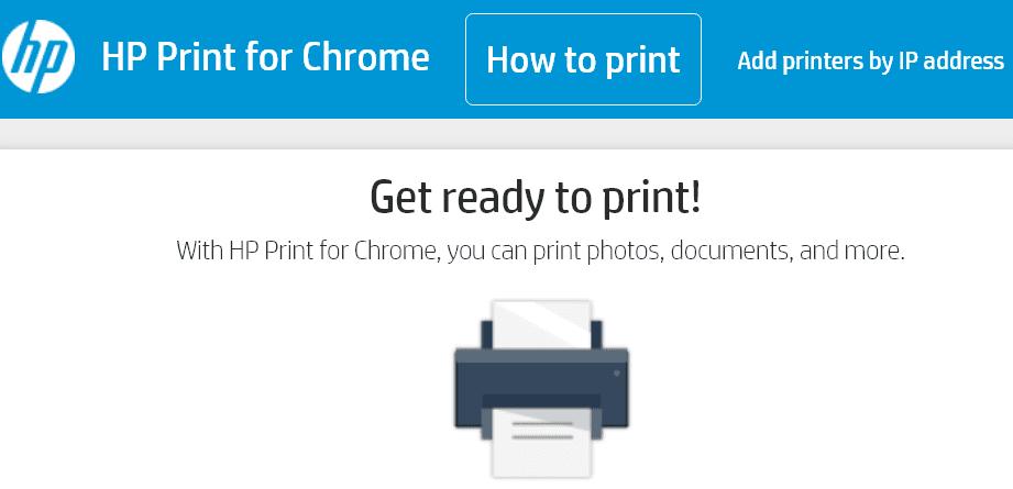Aplicación HP Print para Chrome