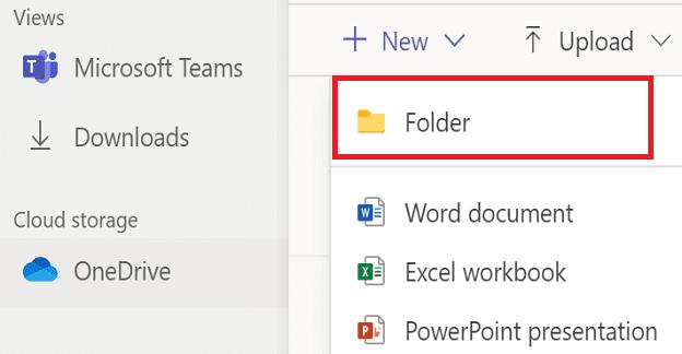 Microsoft Teams: no se puede crear una nueva carpeta en archivos