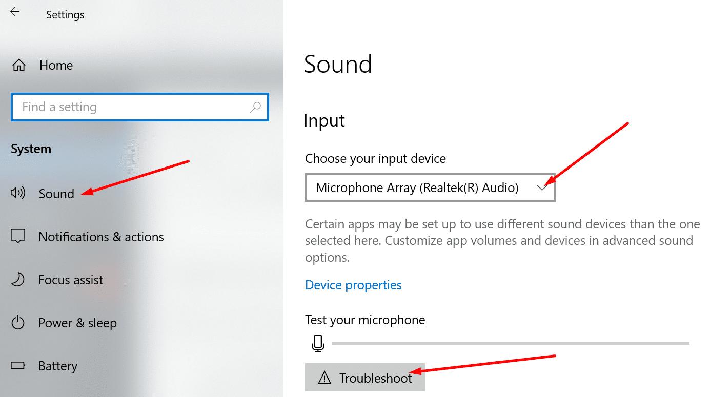 Configuración de sonido de Windows 10