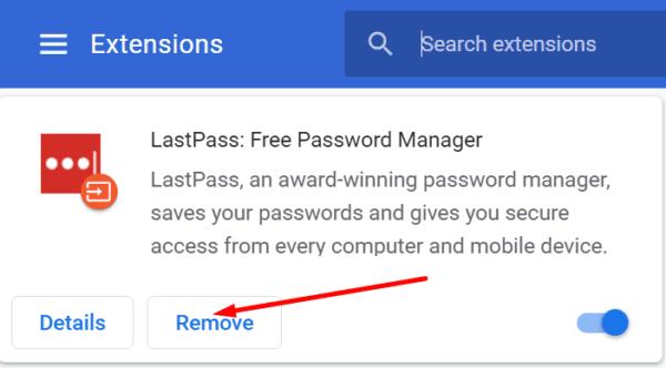 Eliminar la extensión Lastpass del navegador