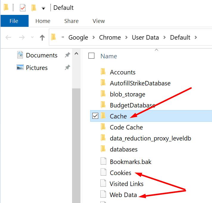 Borrar la caché del equipo de Chrome