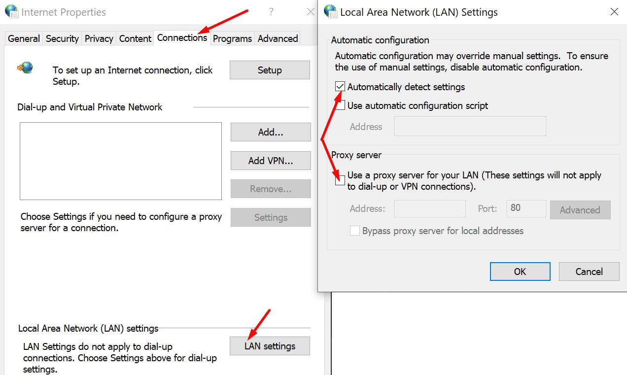 Ventana de configuración de proxy 10