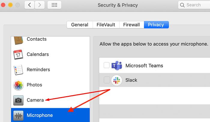 Configuración de privacidad de Mac