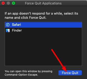 forzar el cierre de aplicaciones macos