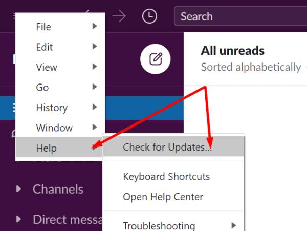 Consulte la aplicación Slack para obtener actualizaciones