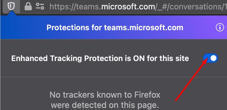 Protección de seguimiento mejorada de Firefox